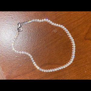 Silver Cubic Zirconia Tennis Bracelet
